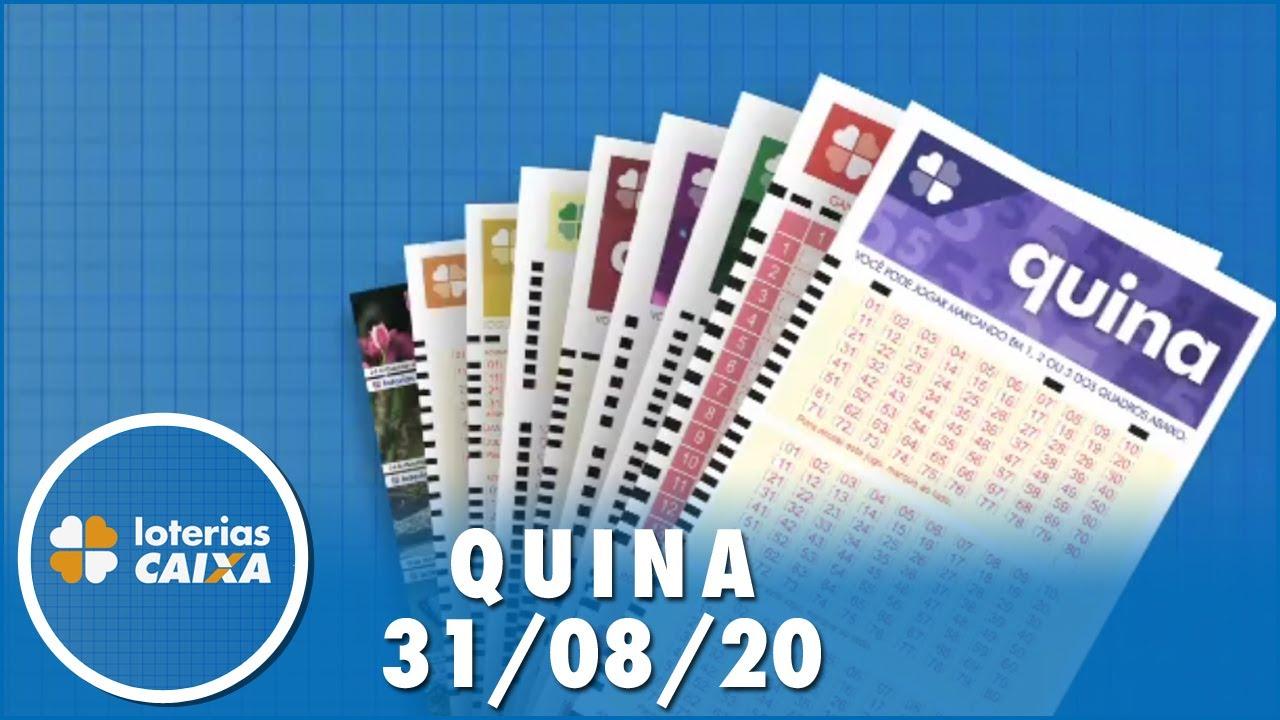 Resultado da Quina - Concurso nº 5354 - 31/08/2020