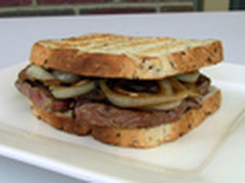 Steak Sandwich With Mushrooms And Onions Recipe - YouTube