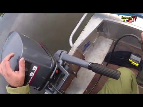 Первое тестирование б\у лодочного мотора  Yamaha 20 CMHS