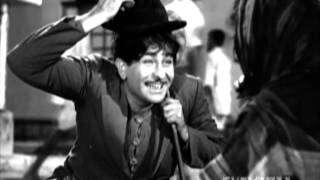 Shree 420 - Raj Kapoor - Lalita Pawar - Nargis - Innocent Raj - Best Bollywood Comedy