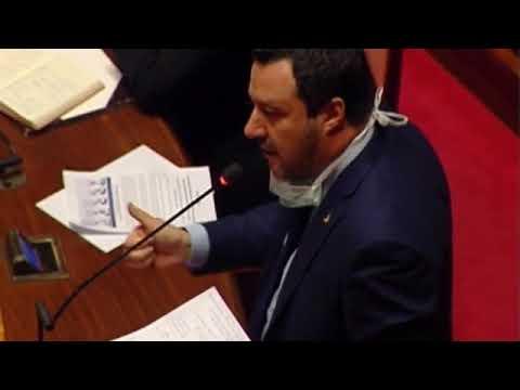 Salvini dal Senato - Spero di riuscire a portare la vostra voce (26.03.20)