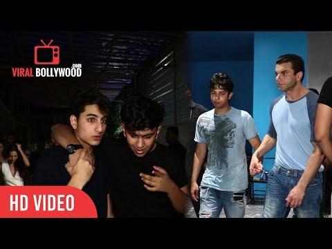 Bollywood Star's Kids At Arbaaz Khan 50th Birthday Party | Arbaaz Khan Birthday Bash 2017