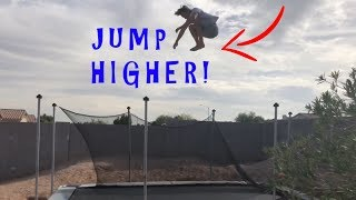 How To Jump Higher On A Trampoline Easy!