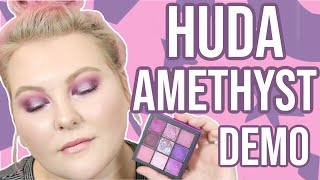 Huda Amethyst Obsessions Palette: Swatches + Tutorial! | Lauren Mae Beauty
