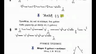 Byzantine Music Lesson 5 Ex14-19 (Απλή)