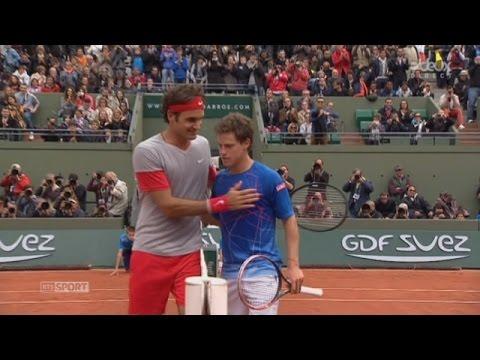 Roger Federer Best points R2 @ RG 2014