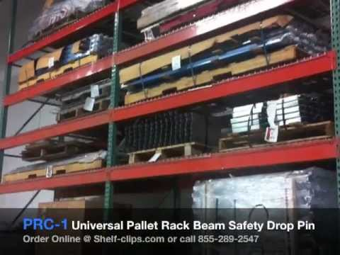 Pallet Rack Beam Safety Drop Pin 855 289 2547 Shelf Clips