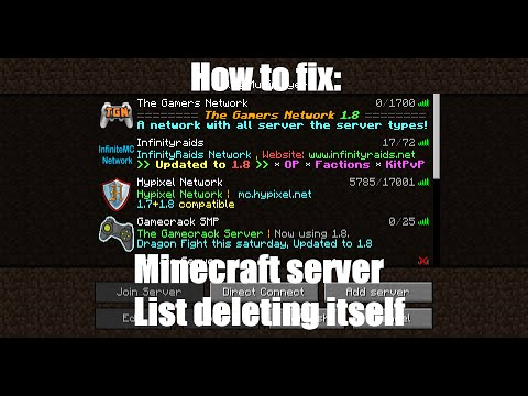 How to fix Minecraft Server List deleting itself! (Read ...