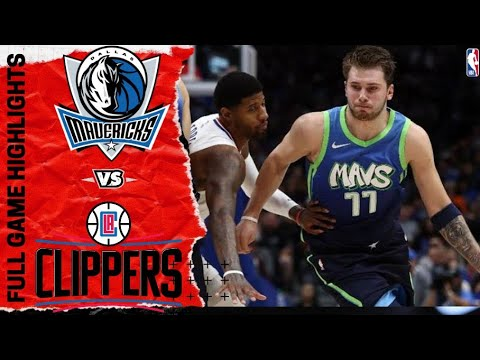 Dallas Mavericks Vs Los Angeles Clippers Full Game Highlights January 22 2020 2019 2020 Season