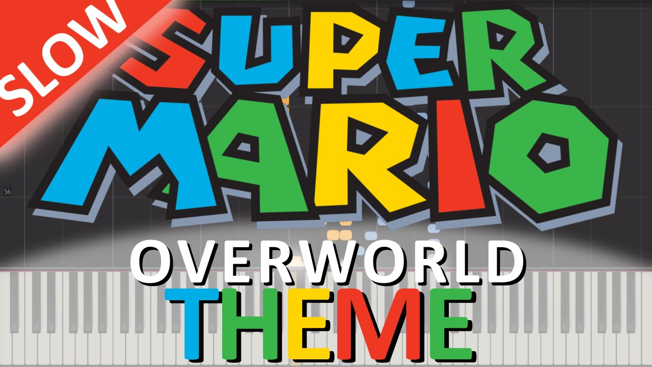 super mario bros overworld theme piano tutorial slow youtube. Black Bedroom Furniture Sets. Home Design Ideas