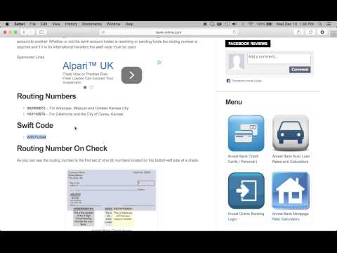 Arvest Bank Routing Numbers and Swift Code - YouTube