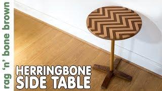 Making A Herringbone Beech & Mahogany Side Table