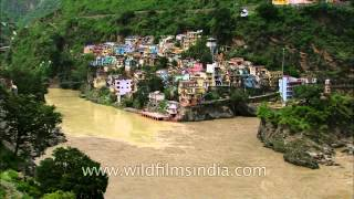 Uttarakhand flood has caused the entire landscape of Devprayag to change dramatically