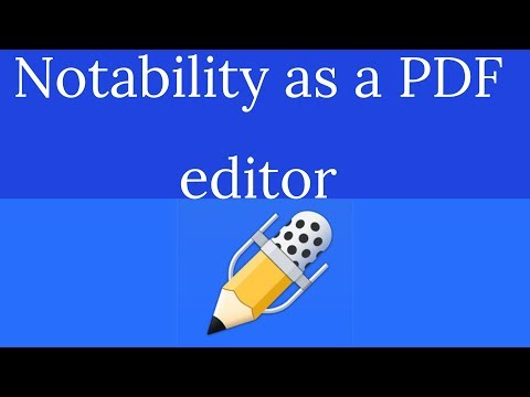 Notability As A PDF Editor For A Paperless Student