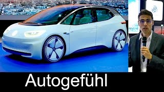 The future VW: electric car Volkswagen I.D. Preview Exterior/Interior/Facts - Autogefühl