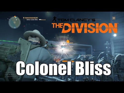 The Division Boss Fight (helicoper) Defeat Colonel Bliss  - Last Man Standing