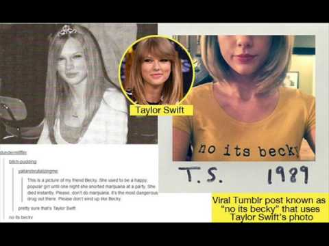 Funny Meme Tumblr Pictures : Taylor swift pokes fun at tumblr meme in a 'no its becky' shirt