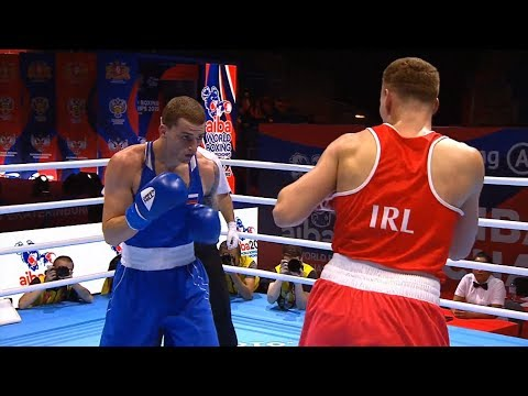 Round Of 16 (75kg)  NEVIN Michael (IRL) Vs BAKSHI GLEB (RUS) /AIBA World 2019