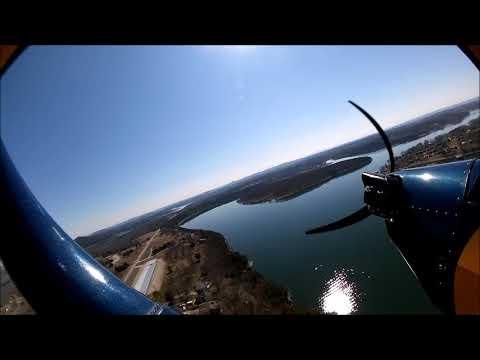Pietenpol N8031, Birds Eye Tour of Grass Airstrips on Table Rock Lake, West of Branson. 3.4.21