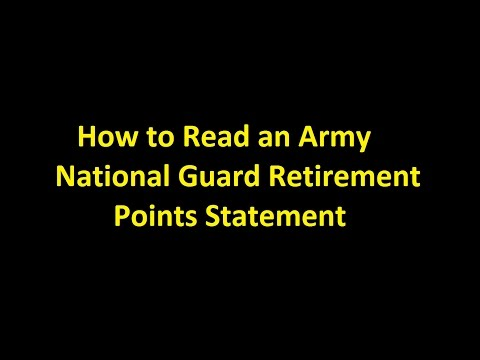 Episode 0012 - How to Read an Army National Guard Retirement Points Statement