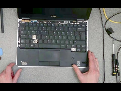 Dell Latitude E7240: How to replace the keyboard - YouTube