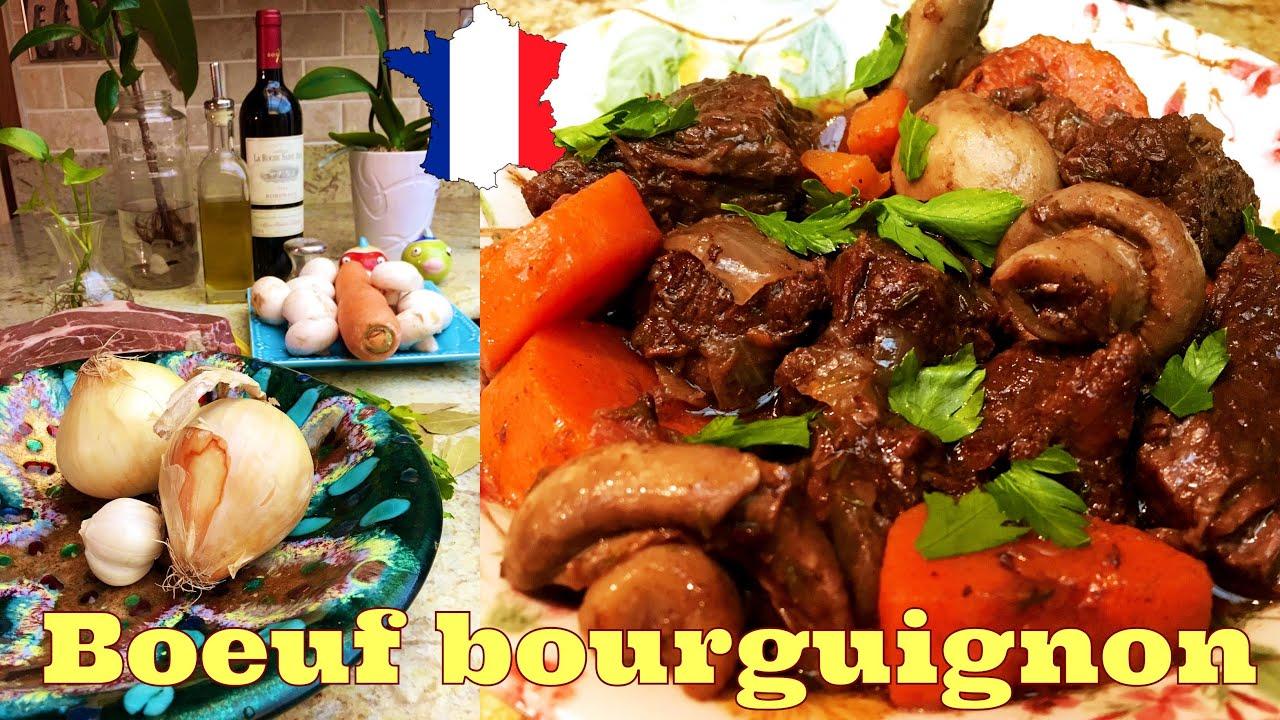Cuisine Francaise Boeuf Bourguignon Youtube