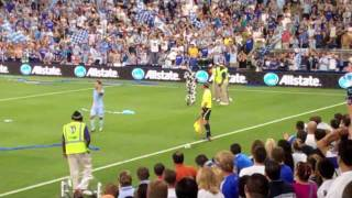 Sporting KC Opener Cow Attack