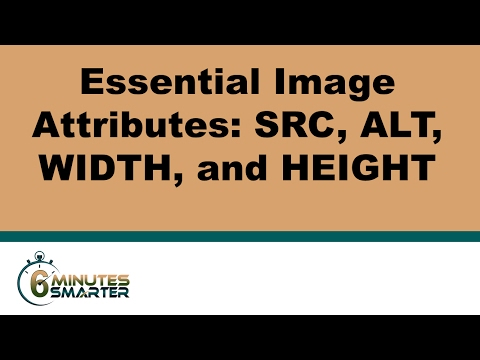 Essential Image Attributes: SRC, ALT, WIDTH, And HEIGHT