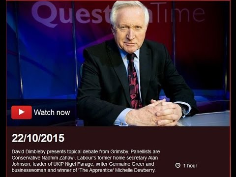 22 10 2015, Question Time
