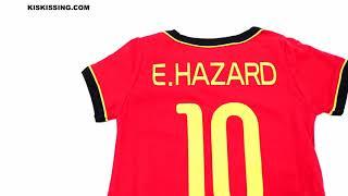 Belgium Hazard Football Jersey Pattern Romper Bodysuit 2018 Russia FIFA World Cup for Baby Boys
