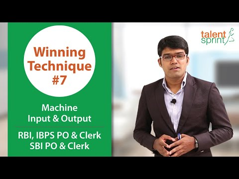 Machine Input & Output for IBPS Clerk & RBI Assistant 2017 |