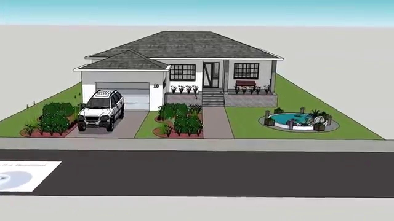 131027 3D moderne bungalow / modern house - YouTube