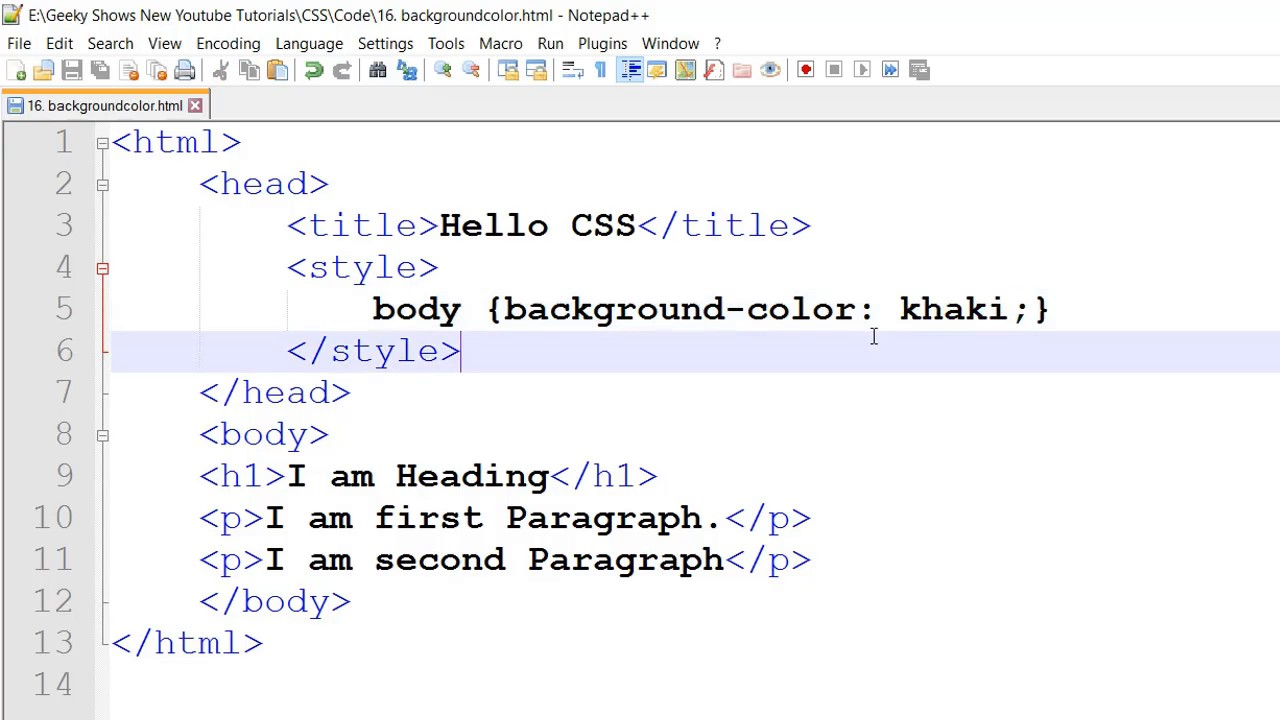 background color property in CSS (Hindi) - YouTube
