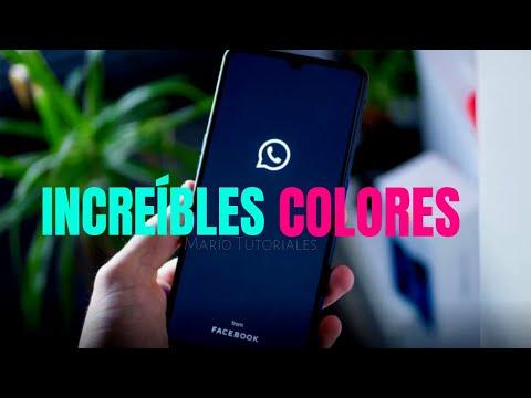 COMO CAMBIAR EL COLOR DE WHATSAPP / De Colores 2019 / Mario Tutoriales