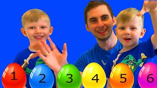 Color Song Nursery Rhymes | Learn Colors | Action Song with Mommy, Daddy and Brother