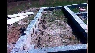 Строим каркасную баню быстро и не дорого!!! (часть 1) Фундамент!!!