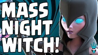 MASS NIGHT WITCHES - GOOD OR BAD? - TH6 All Night Witch Gameplay - Clash of Clans - BH6 Update
