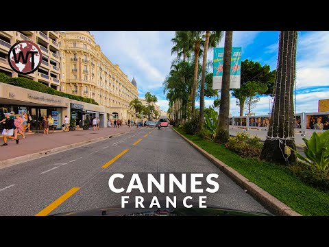 Scenic Drive From Cannes to Antibes - 🇫🇷 France - 4K Driving Tour