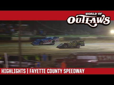 World of Outlaws Craftsman Late Models Fayette County Speedway July 26, 2017 | HIGHLIGHTS