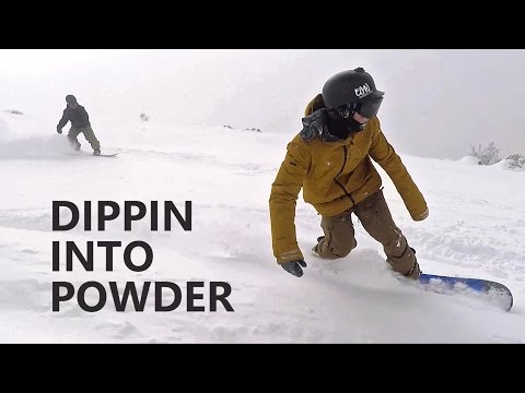 Dippin Into Powder - Snowboarding at Mt Bachelor