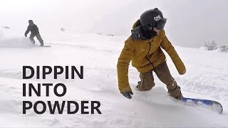 Dippin Into Powder - Snowboarding at Mt Bachelor