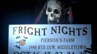 Halloween Fright Nights @ Piersons Farm Middletown, New York