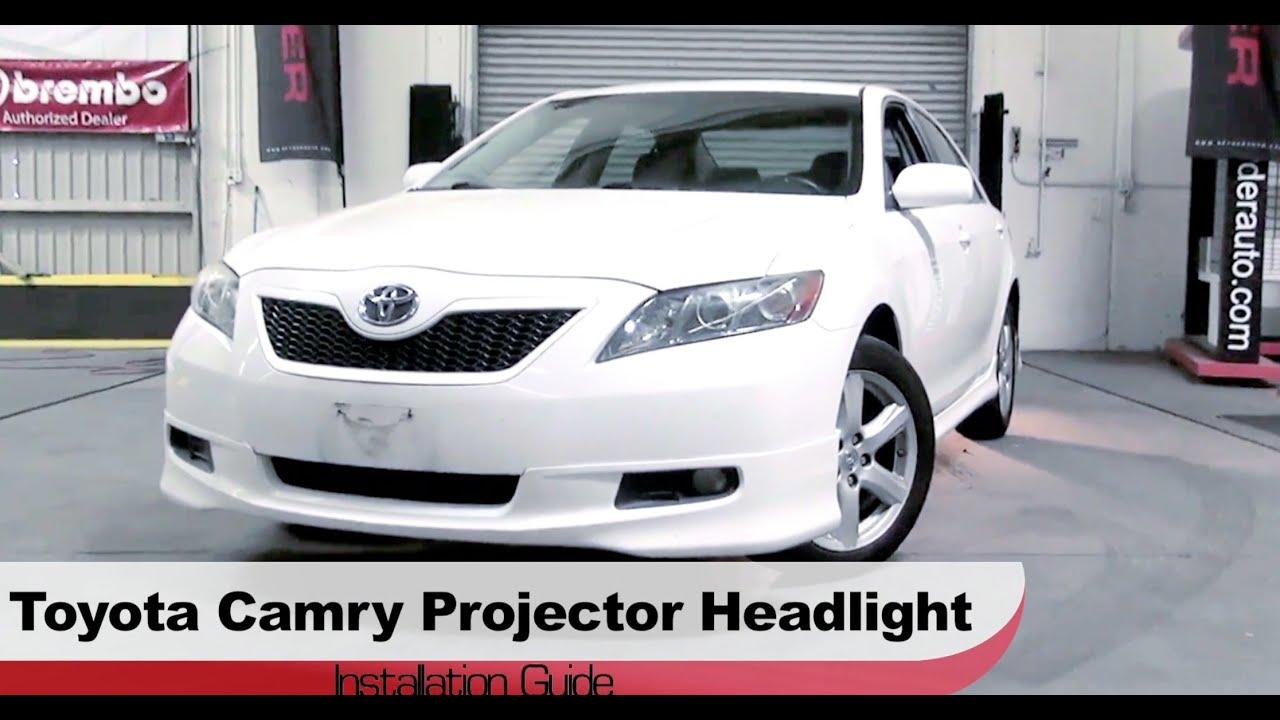 Spyder auto installation 2007 09 toyota camry projector headlights w led drls