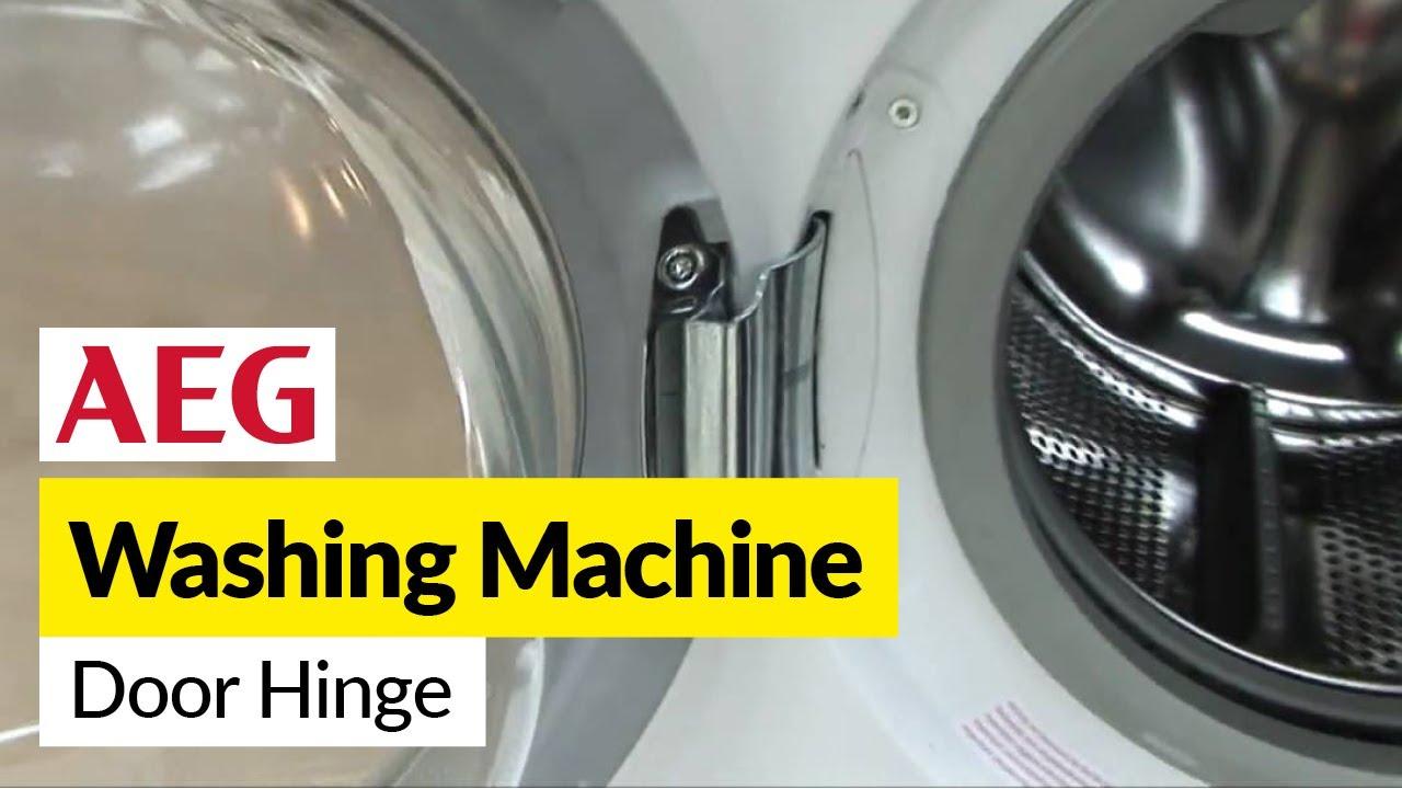 Elegant How To Replace A Washing Machine Door Hinge On An AEG Washer   YouTube