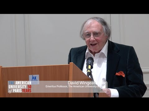 AUP Events: Professor Emeritis David Wingeate Pike