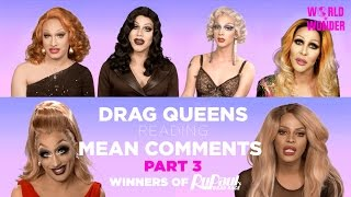 The Queens have returned for more! Watch them react to even more nasty comments. With Jinkx, Bebe, Raja, Raven, Tyra, Sharon, & Violet. The library is open.