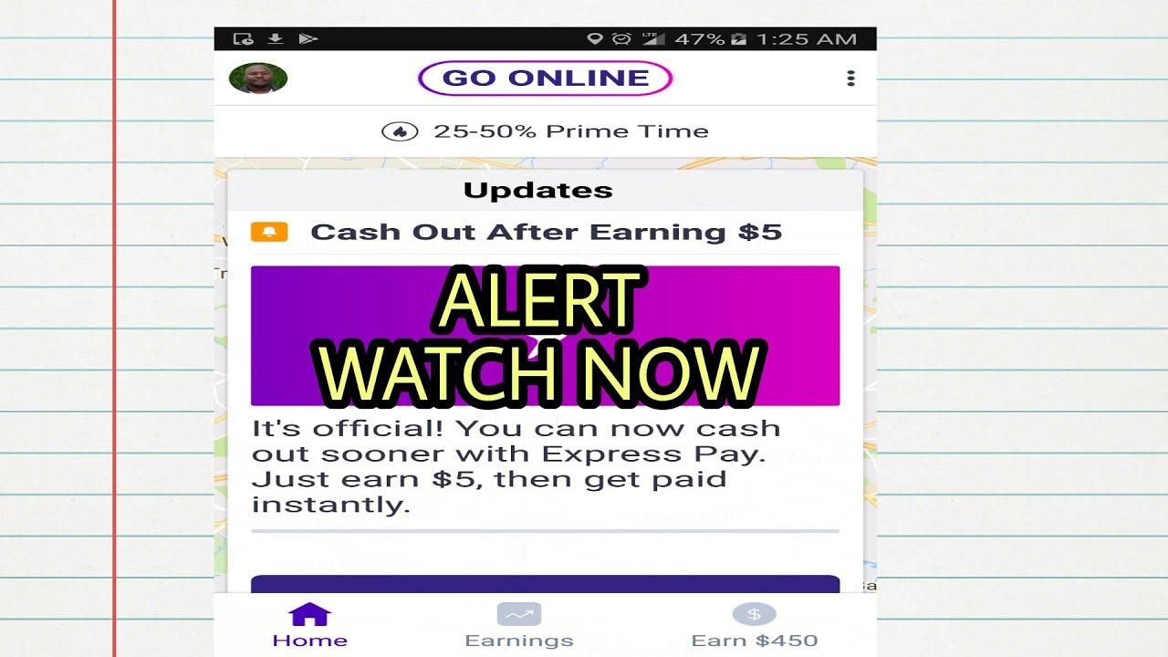 Alert: Lyft Drivers Cash Out At $5