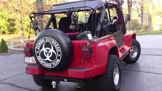 Jeep Wrangler Zombie Renegade minigun M134 Tactical