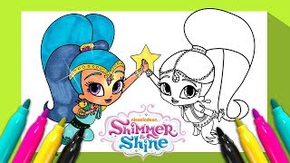 Shimmer and Shine Coloring Book Colored Markers for Kids Children