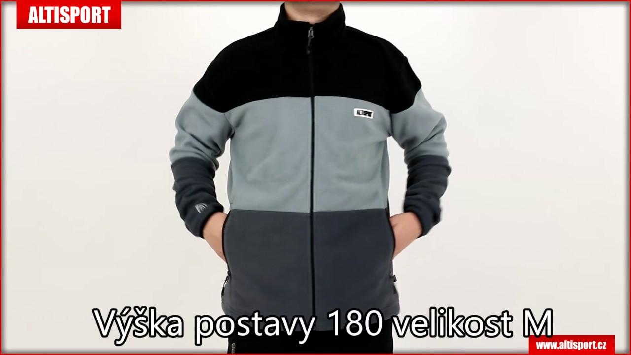 pánská fleece mikina altisport burle almw16049 šedá - YouTube 43ee4c420a